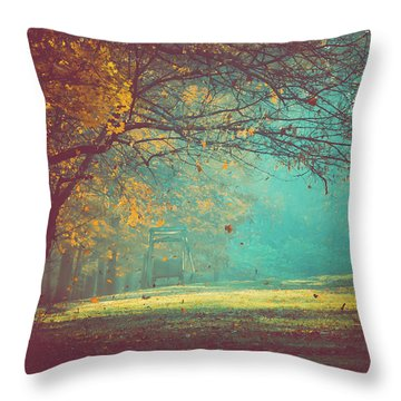 Painted Sunrise Throw Pillow