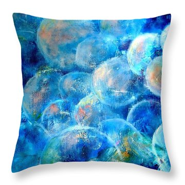 Painterly Bubbles Throw Pillow