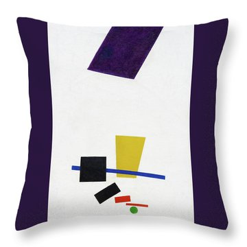 Painterly Realism Of A Football Player - Digital Remastered Edition Throw Pillow