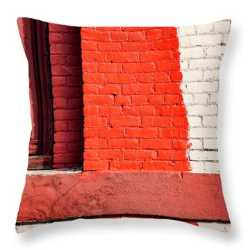Painting The Town Red Number 1 Throw Pillow
