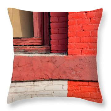 Painting The Town Red Number 3 Throw Pillow