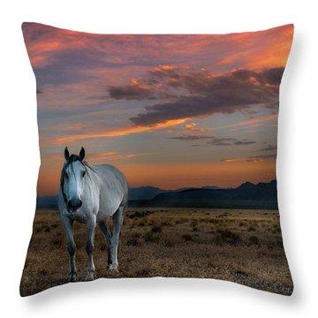 Pale Horse Throw Pillow
