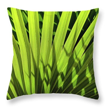 Throw Pillow featuring the photograph Palm Portrait I by Leda Robertson