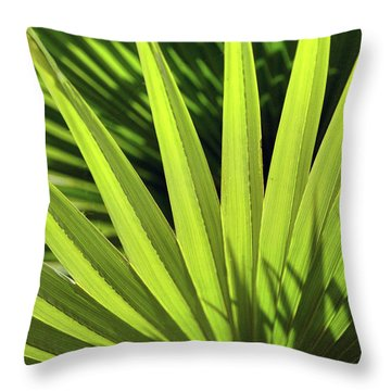 Throw Pillow featuring the photograph Palm Portrait II by Leda Robertson
