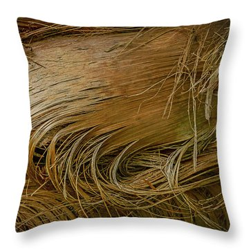 Palm Tree Straw Throw Pillow