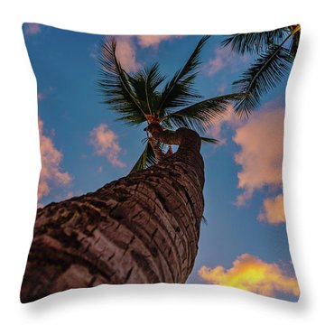 Palm Upward Throw Pillow