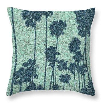 Palms Over Palisades No. 2 Throw Pillow