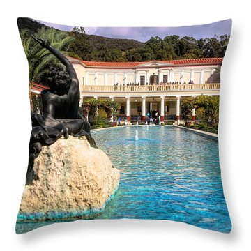 Pano View Getty Villa Awesome  Throw Pillow