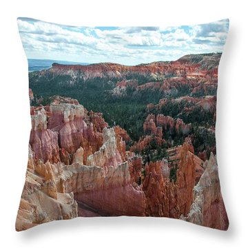 Panorama  From The Rim, Bryce Canyon  Throw Pillow