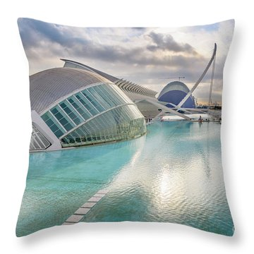 Panoramic Cinema In The City Of Sciences Of Valencia, Spain, Vis Throw Pillow