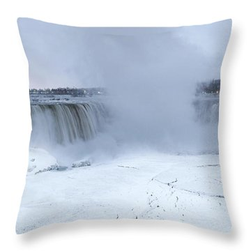 Panoramic View Niagara Falls Throw Pillow