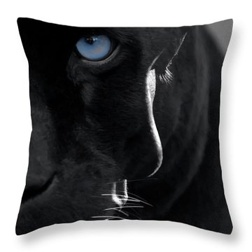 Throw Pillow featuring the digital art Pantheress by ISAW Company