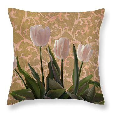 Papaveri Damascati Throw Pillow