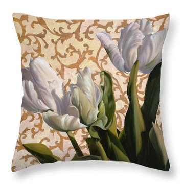 Papaveri Frastagliati Throw Pillow