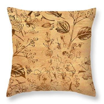 Paper Petal Patterns Throw Pillow