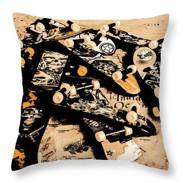 Paper Skate Throw Pillow