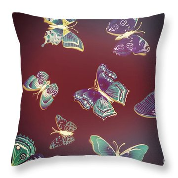 Paper Wings. Dreamy Flights Throw Pillow