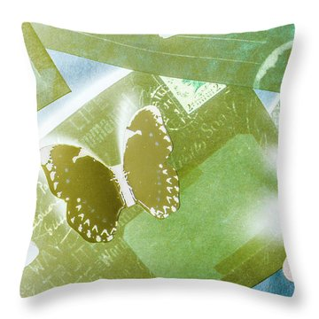 Paperwing Post Throw Pillow