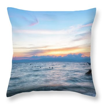 Paradise Beauty Throw Pillow