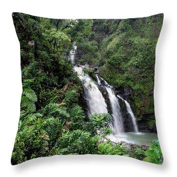 Paradise Falls Throw Pillow