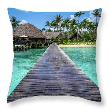 Rangiroa, Tuamotu - Paradise On Earth Throw Pillow