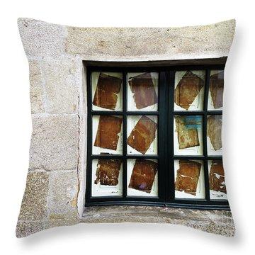 Parchment Panes Throw Pillow