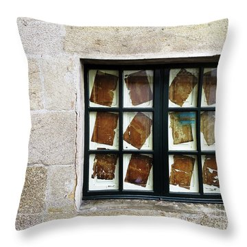 Parchment Panes Throw Pillow