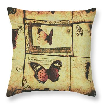 Parchment Post Carriers Throw Pillow