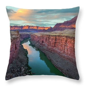 Paria River Canyon, Vermilion Cliffs Throw Pillow