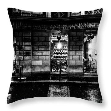 Paris At Night - Rue Bonaparte 2 Throw Pillow