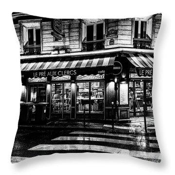 Paris At Night - Rue Bonaparte Throw Pillow