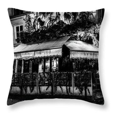 Paris At Night - Rue De Buci Throw Pillow
