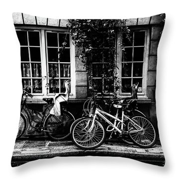 Paris At Night - Rue Poulletier Throw Pillow