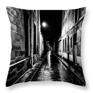 Paris At Night - Rue Visconti Throw Pillow