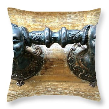 Paris Door Handle Throw Pillow