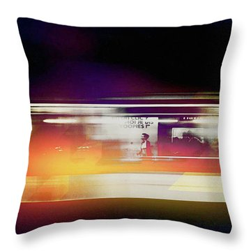 Throw Pillow featuring the photograph Paris Metro by Susan Maxwell Schmidt