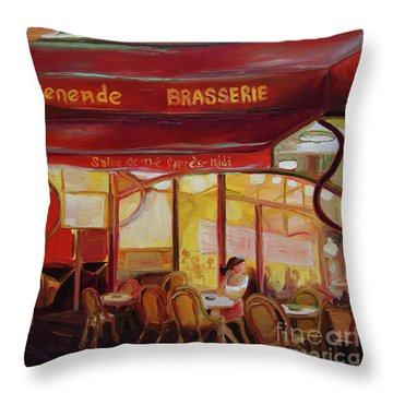 Paris Night Throw Pillow