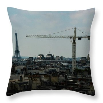 Paris Towers Throw Pillow