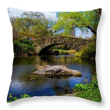 Park Bridge2 Throw Pillow