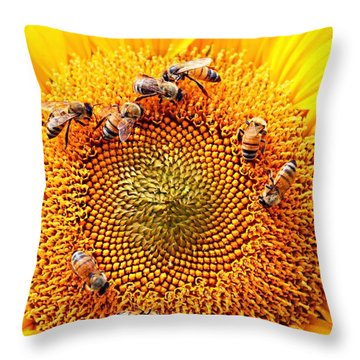 Throw Pillow featuring the photograph Party by Candice Trimble