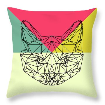 Party Cat Throw Pillow