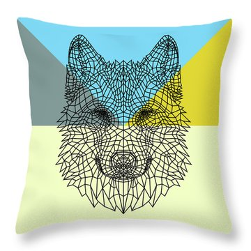 Party Wolf Throw Pillow