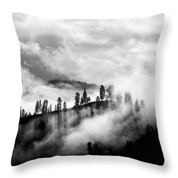 Passing Storm Central Idaho Mountains Throw Pillow
