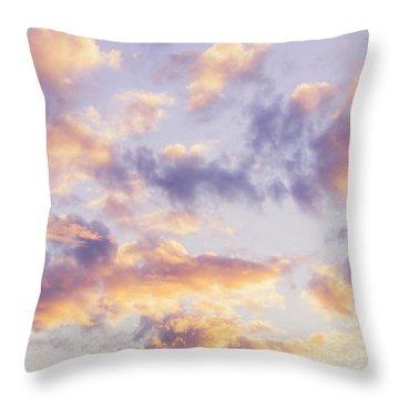 Pastel Cloudscape Throw Pillow
