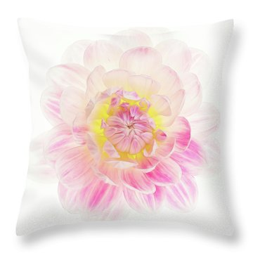 Throw Pillow featuring the photograph Pastel Dreams by Mary Jo Allen