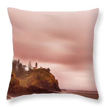 Throw Pillow featuring the photograph Pastel Seascape by Dheeraj Mutha