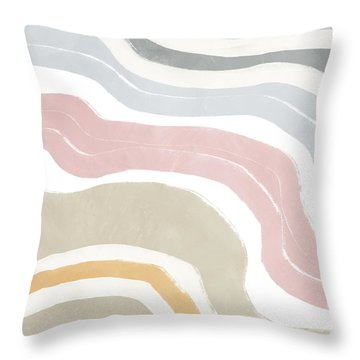 Pastel Waves 1- Art By Linda Woods Throw Pillow