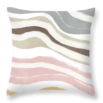 Pastel Waves 2- Art By Linda Woods Throw Pillow