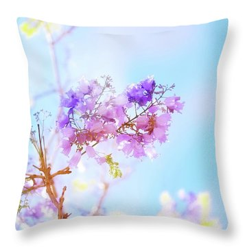 Pastels In The Sky Throw Pillow