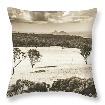 Pastoral Plains Throw Pillow